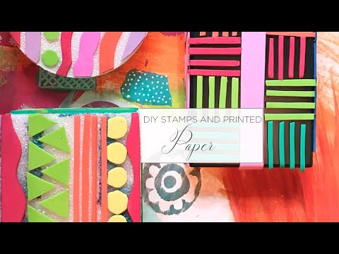 Elevenses with MZ Ep 24 - DIY Stamps and Printed Paper