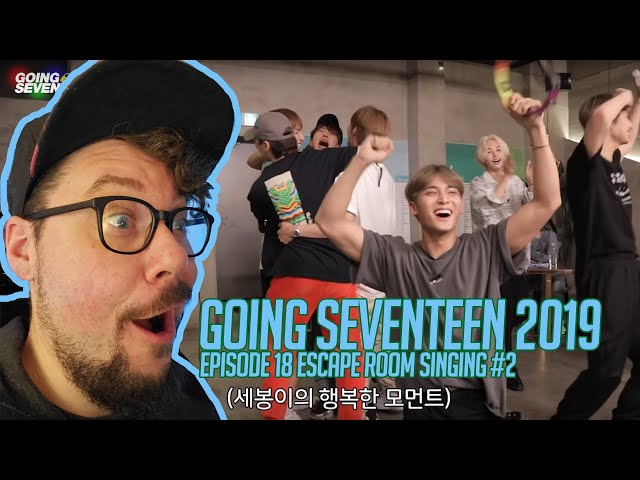 Mikey Reacts to GOING SEVENTEEN 2019 Ep. 18 Escape Singing Room #2
