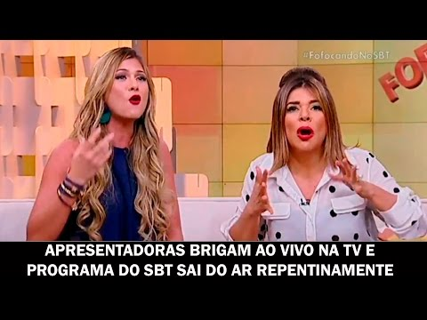 Apresentadoras brigam ao vivo na TV e programa do SBT sai do ar repentinamente
