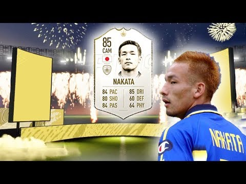 FIFA 20 ICON 85 RATED NAKATA PLAYER REVIEW RTG #6