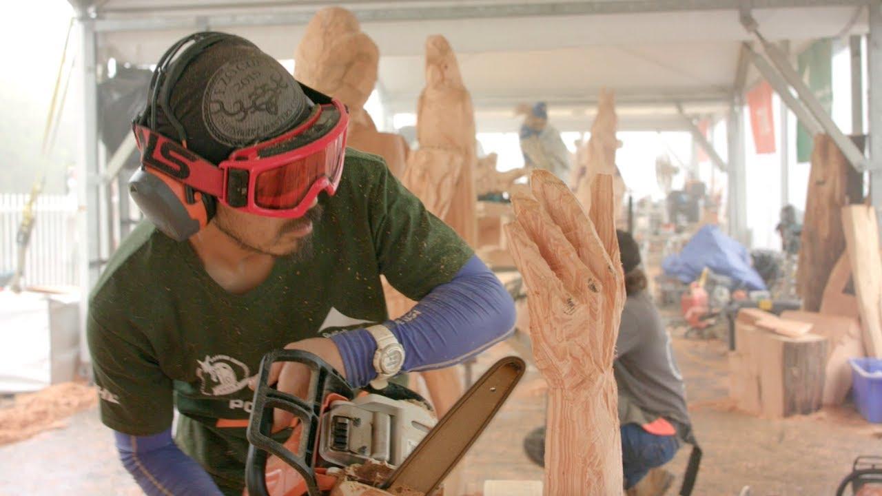 Hikaru kodama rd place australian chainsaw carving