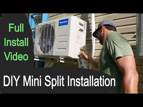 How To Install a DIY Ductless Mini Split Air Conditioner Heat Pump // MRCOOL