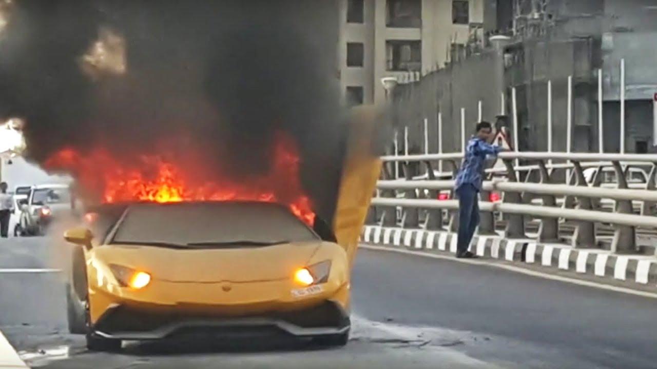 My Lamborghini Caught On Fire Youtube