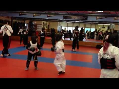 Mack Jackson's first round of Karate Sparring