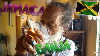 how does a rasta smoke his ganja jamaica