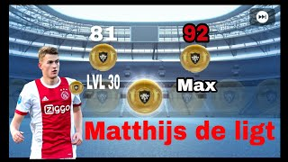 M  de ligt featured player max level pes 2019 mobile