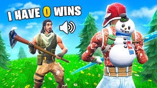 I Helped The BIGGEST NOOB Get His FIRST WIN on Fortnite! (He CRIED)