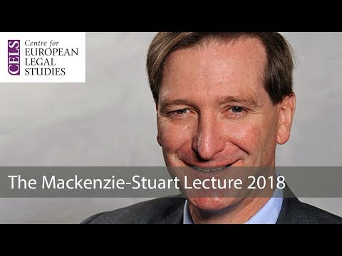 'What Price Sovereignty? Brexit and Human Rights': The 2018 Mackenzie Stuart Lecture