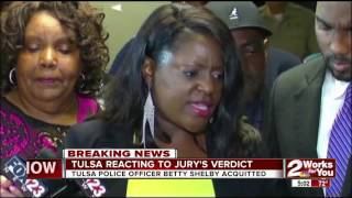 Tulsa reacts to last night's jury verdict from Officer Betty Shelby's manslaughter case