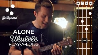 Download Alone Alan Walker - Ukulele Play-a-long cover tutorial with Adam Christopher