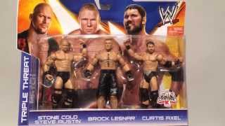 K-Mart Exclusive WWE Mattel 3-pack! Brock Lesnar, Stone Cold, Curtis Axel Wrestling Figures