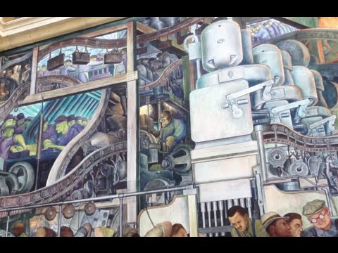 Detroit institute of arts diego rivera mural youtube for Diego rivera mural san francisco art institute