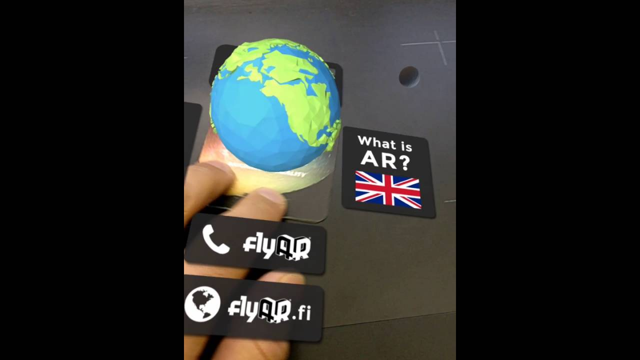 The coolest business card ever? - Augmented Reality by flyAR - YouTube