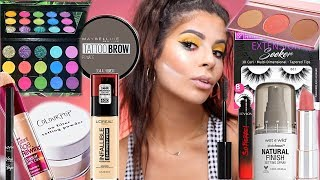 FULL FACE OF DRUGSTORE/AFFORDABLE  HOLY GRAILS!! BEST DRUGSTORE MAKEUP!!