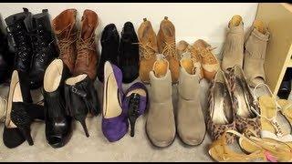 Closet Tour And Shoe Storage