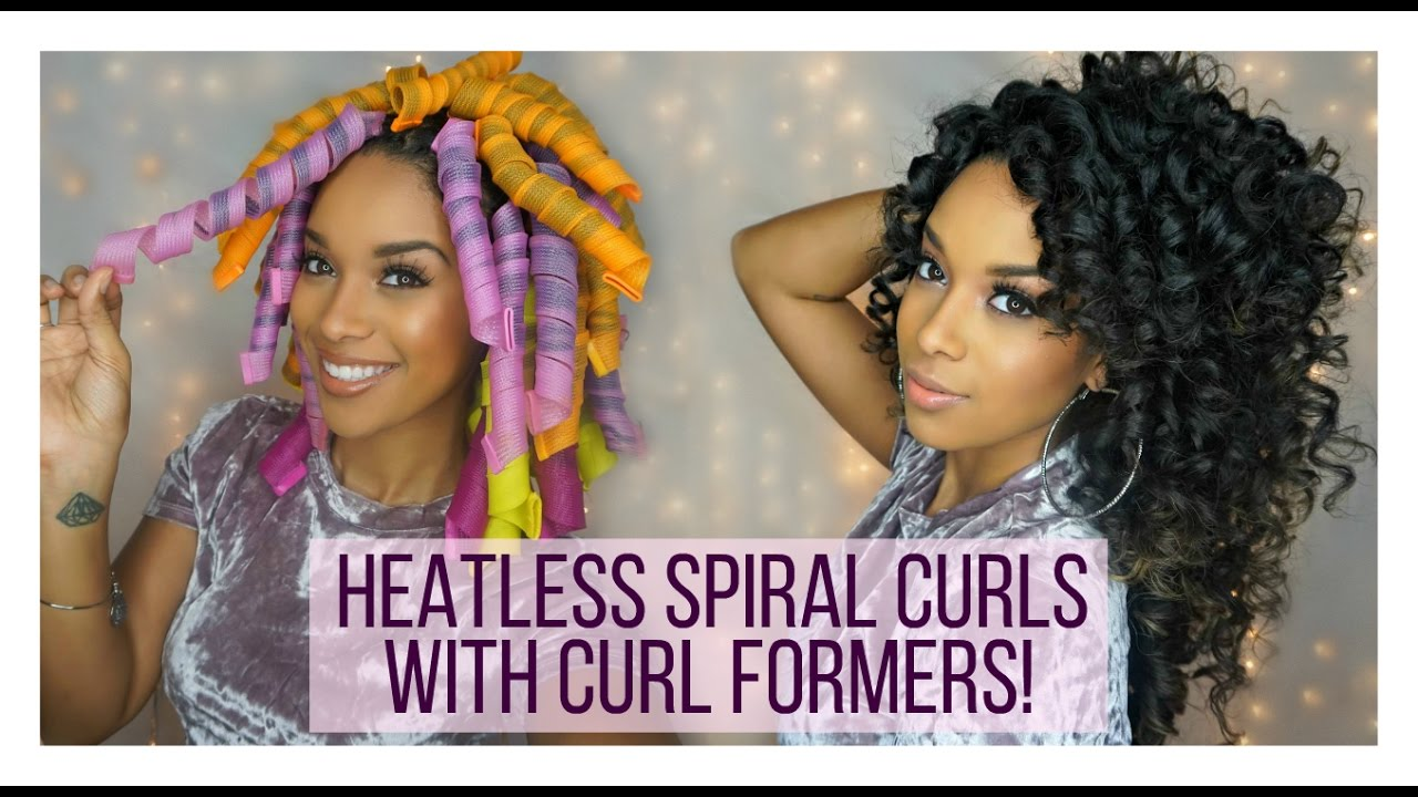 heatless curls with curl