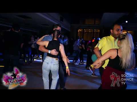 Ana Garcia & Man? - Bachata social dancing   Beirut Salsa Loca 2018