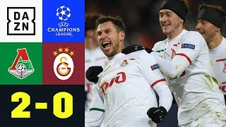 Lok schießt Schalke ins Achtelfinale: Lok Moskau - Galatasaray 2:0 | Champions League | Highlights