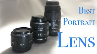 Best camera lens for portraits.