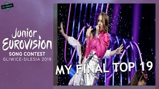 JUNIOR EUROVISION 2019: MY FINAL TOP 19 // From The Netherlands (Before The Show)