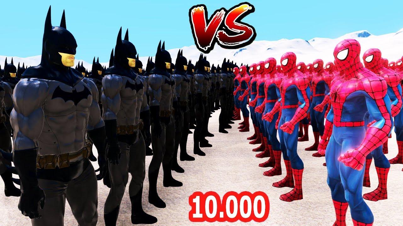 10.000 BATMAN 10.000 ÖRÜMCEK ADAMA KARŞI .? Süper Kahramanlar Savaşı