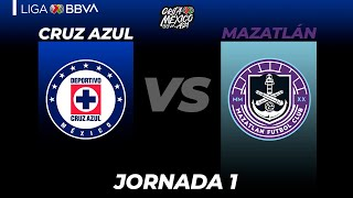 Resumen Cruz Azul vs Mazatlán | Grita México A21 - Jornada 1 | LIGA BBVA MX