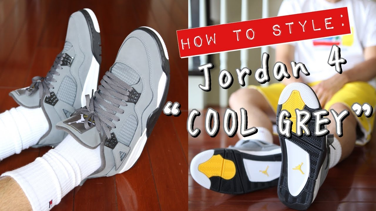 """[VIDEO] - HOW TO STYLE - AIR JORDAN 4 """"COOL GREY"""" ON FEET - 3 CASUAL OUTFITS 5"""