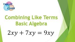 Combining Like Terms (Basic Algebra Concept)