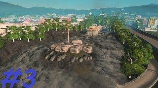 Cities Skylines PS4 Natural disasters - #3 Jezioro w Parku centralnym i pierwsza linia autobusowa