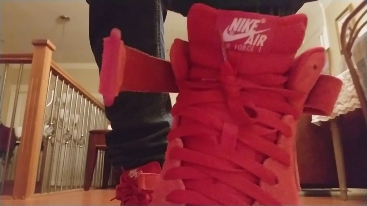 Nike Air Force 1 Mid 07 Gym Red On Feet Review! - YouTube 7eff0acf2