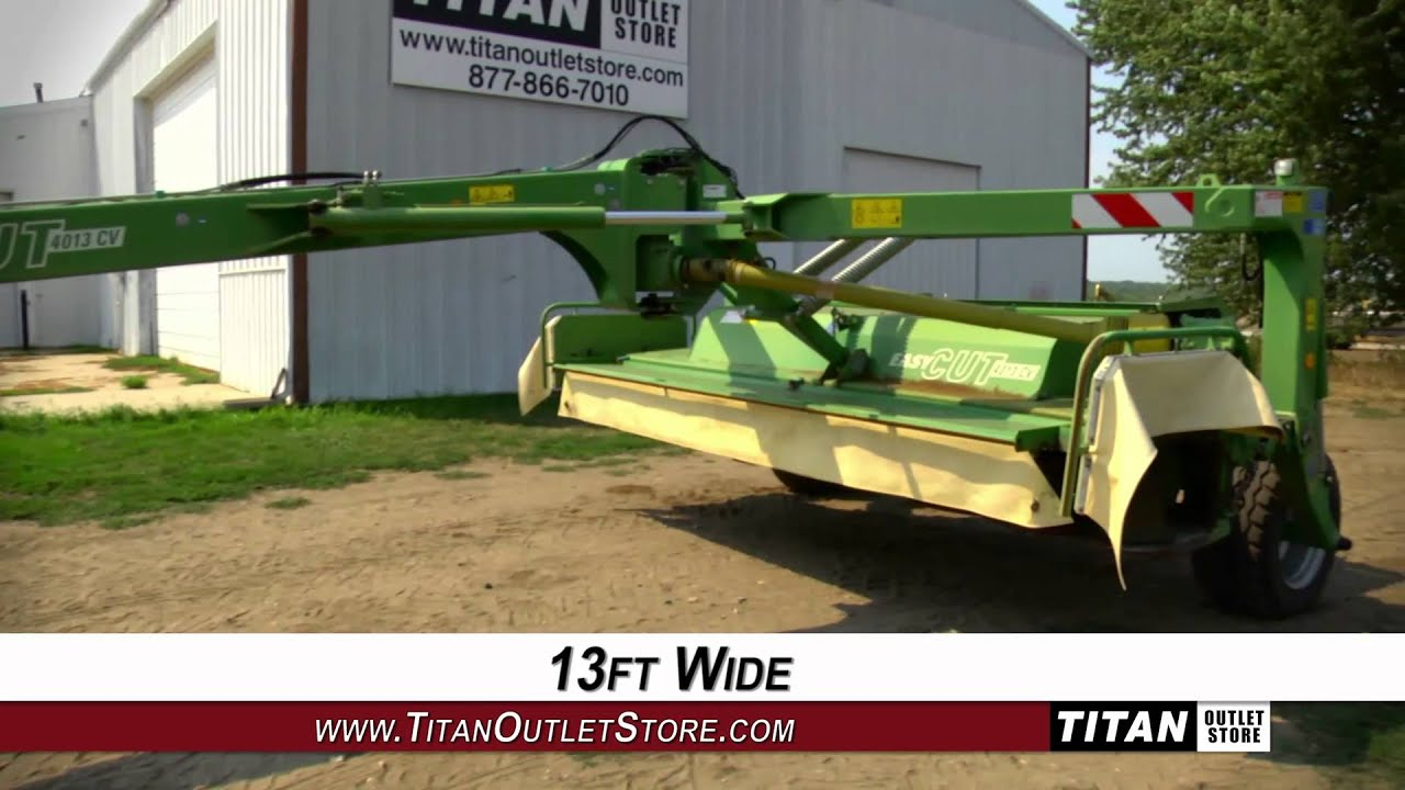 Krone EC4013CV, 13', 1000 PTO, Breakaway Latch, Hyd Lift Disc Mower Sold on  ELS!
