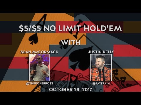 $5/$5 No Limit Holdem with Sean McCormack, October 23rd, 2017