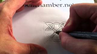 How to Draw Celtic Patterns 49 -  Celtic Square Triskele - 2of3