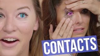 One of Clevver Style's most viewed videos: 5 Creepy Colored Contact Lenses for HALLOWEEN (Beauty Break)