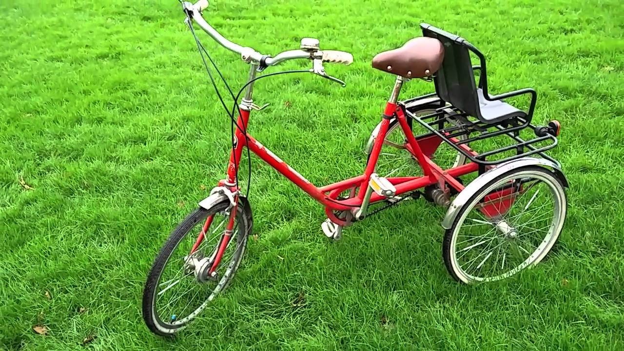 Pashley Tricycle In Red With Child Seat Youtube
