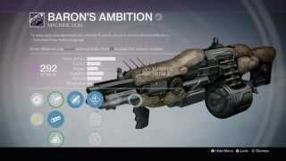 Destiny: The Taken King - Fallen S.A.B.E.R Strike Specific Legendary Reward 'Baron's Ambition'