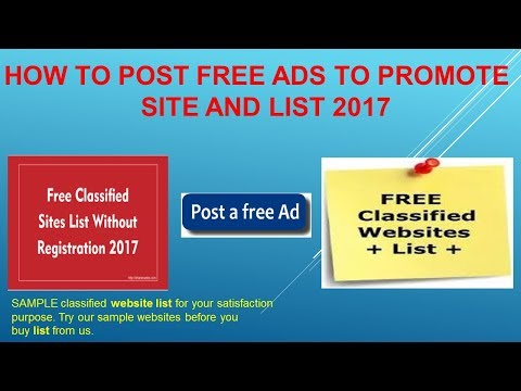 How to Post Free Ads to Promote site and list 2017