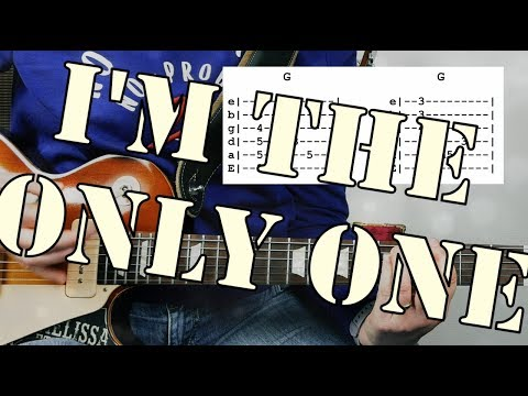 I'm The Only One From Melissa Etheridge | Guitar Tutorial | Tab & chords included!