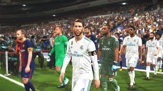 PES 2018 - El Clasico - Real Madrid Vs FC Barcelona - PS4 HD Gameplay