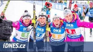 Biatlon štafeta žen 4x6 km 13.1. 2019 Oberhof Německo
