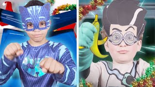 PJ Masks in Real Life: The BIG Christmas Race! 🎁🎄 PJ Masks