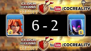 100 Valkyrie vs 100 Witch Clash of Clans Witch vs Valkyrie Valkyrie vs Witch Valk vs Witch