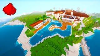 Redstone Beach House (REDSTONE MODERN HOUSE) - Minecraft Redstone Maps