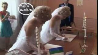 Awesome foursome: Russian twins marry each other