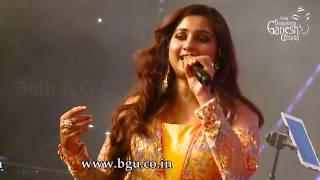 Gambar cover Shreya Ghoshal  singing '' Dhol Baaje'' From  ''Ram Leela'' 56th Bengaluru Ganesh Utsava, 2018