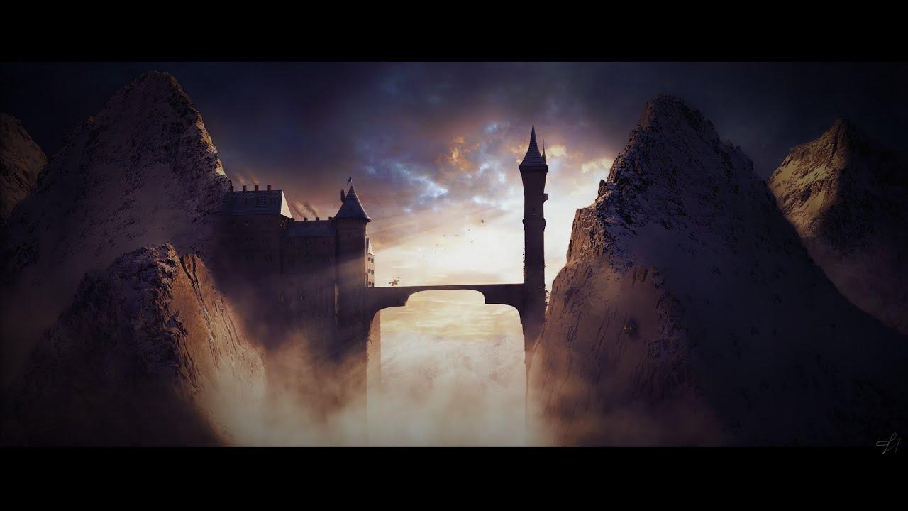 Tutoriel Matte Painting Winter Castle YouTube