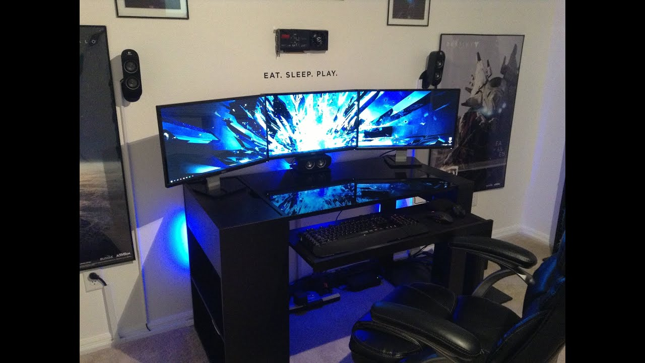 AWESOME 2013 PC Gaming Setup 5760 X 1080 3 Monitors w