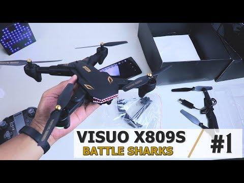 Drone VISUO TERBARU Siap Terbang Lama! VISUO XS809S Battle Sharks Unboxing Part 1
