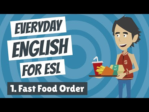 Everyday English for ESL — Lesson One — Fast Food Order - YouTube