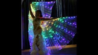 Светодиодные крылья для восточного танца